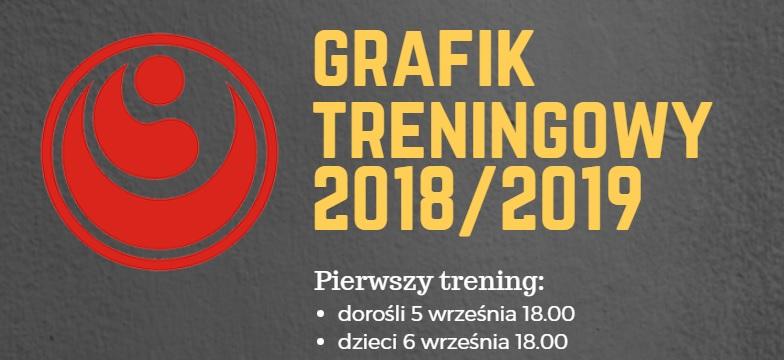 Grafik treningów 2018/2019